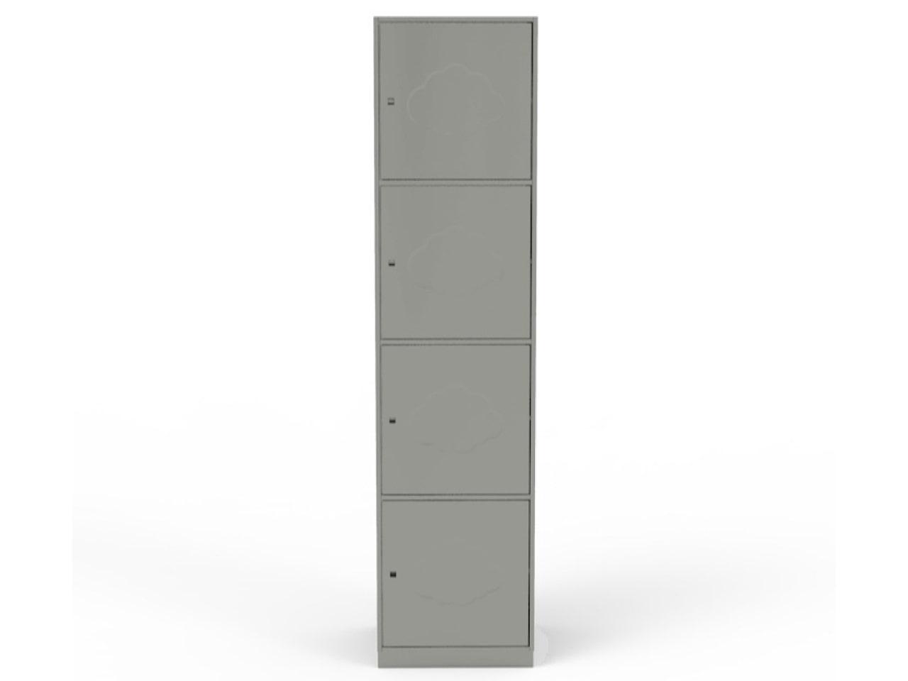 Металлический шкаф с ячейками