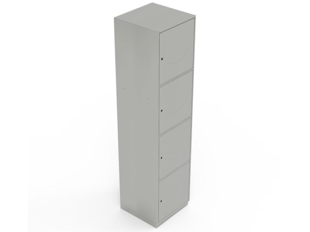 Клиентский шкаф с ячейками на замке