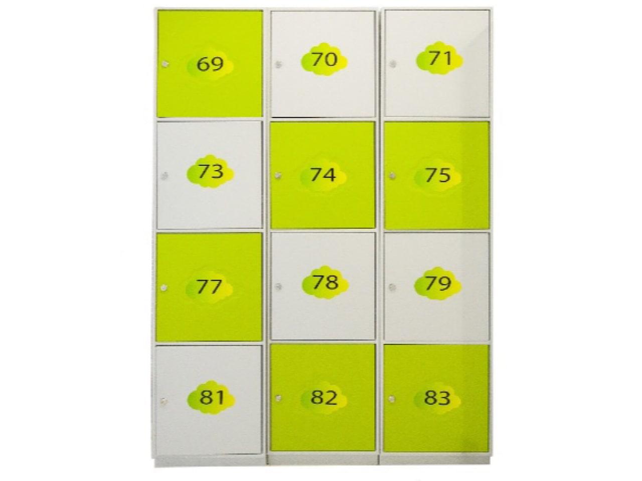 Металлический шкаф с ячейками для клиентов