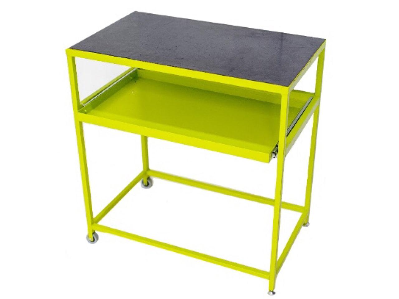Металлический мобильный стол для сборки серверов