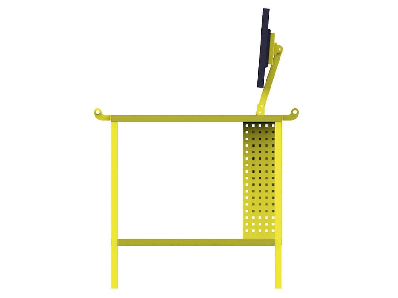 Сервисная тележка-стол с креплением для монитора