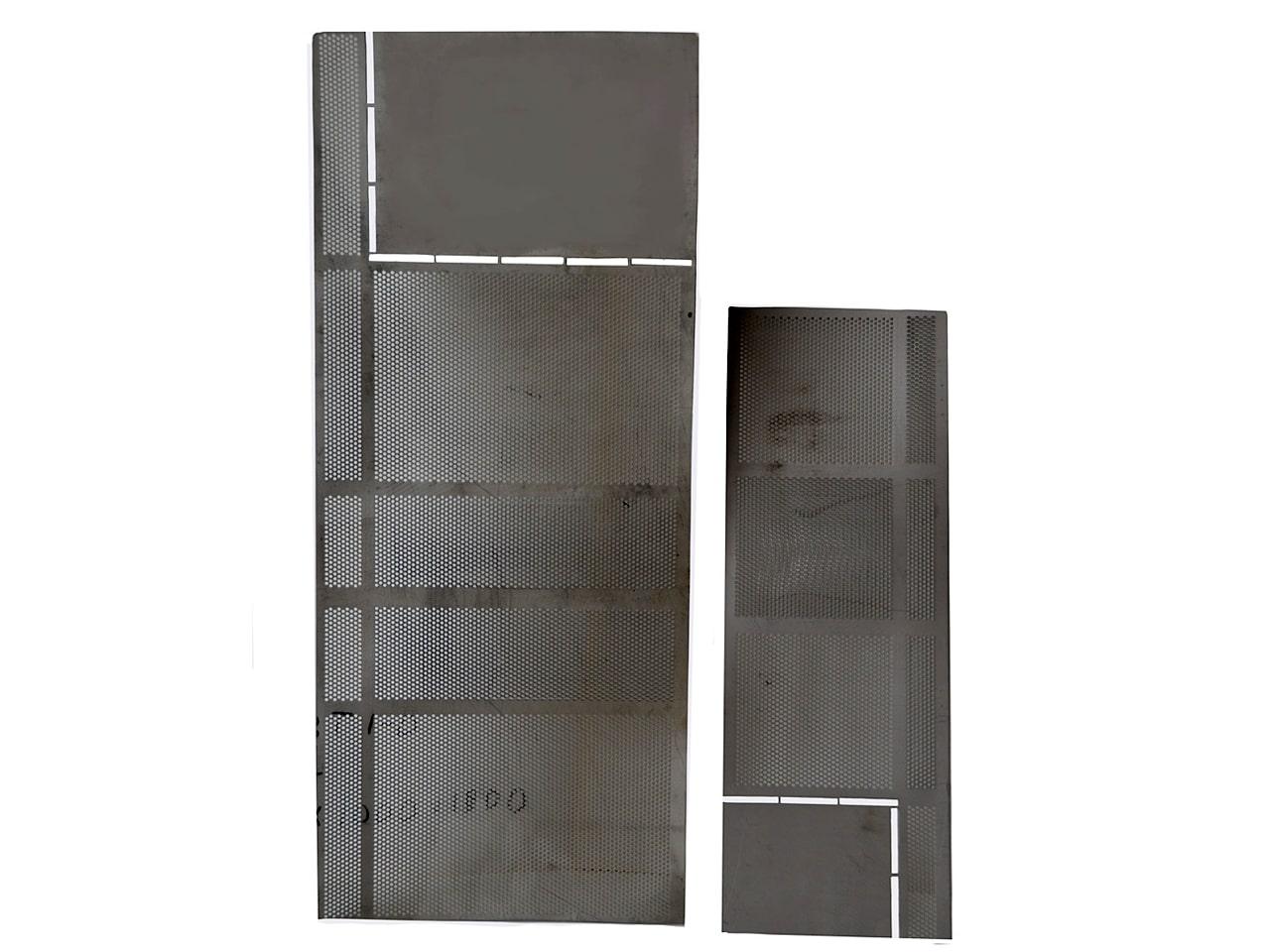 Изготовление металлических листов с перфорацией по размерам заказчика